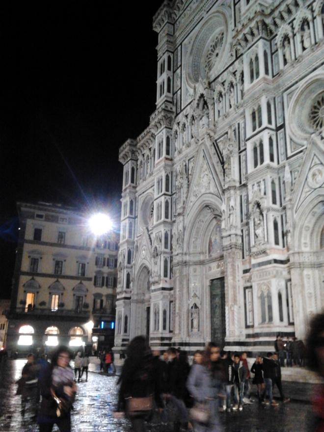 Florence Dome and rain